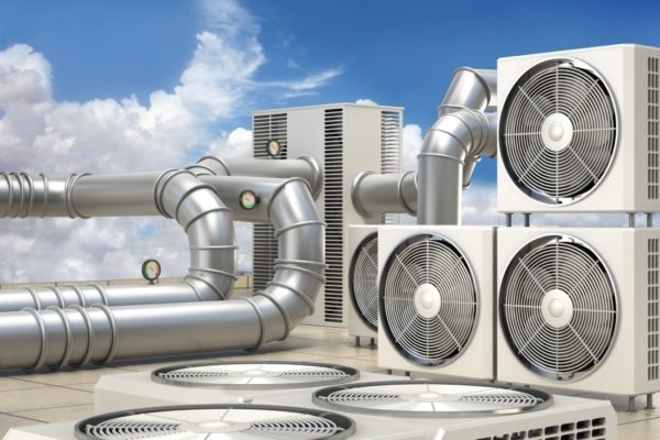 Close-up-view-on-HVAC-units